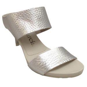 Pedro Garcia Silver Winda Two Strap Sandals